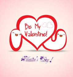 Valentine i love you vector image