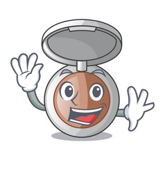 Waving powder makeup isolated in the mascot vector