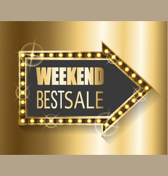 Weekend best sale proposal from shop gold banner vector