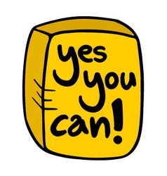 yes you can symbol vector image