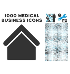Base Building Icon with 1000 Medical Business vector image vector image