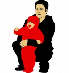 father and his child vector image vector image