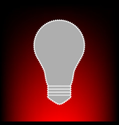 light lamp style vector image