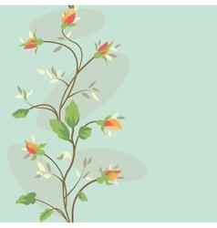 seamless vintage flower border pattern vector image vector image