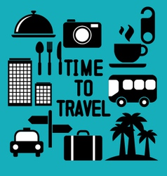 Traveling and transport icons for Web and Mobile A vector image vector image