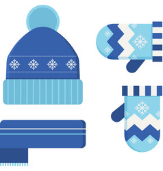 Winter Hat and Scarf vector image vector image