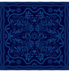abstract blue floral backgroundoun vector image vector image