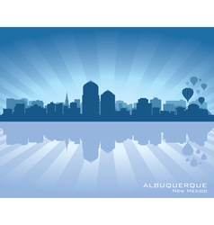 Albuquerque New Mexico skyline vector image vector image