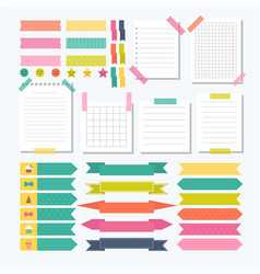 collection of various note papers with different vector image vector image