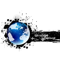 Grunge banner with earth vector image vector image