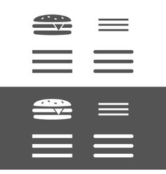 Hamburger menu UI icon vector image