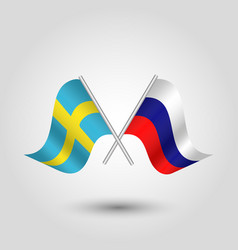 icon of sweden and russia vector image vector image