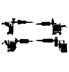 Tattoo guns vector image vector image