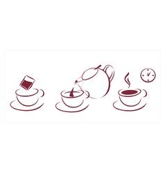 tea brewing scheme vector image