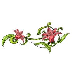 Vine flower border vector image vector image