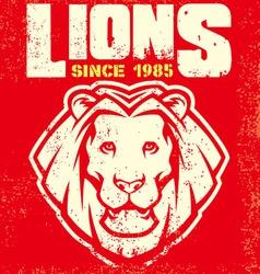 vintage lion mascot vector image vector image
