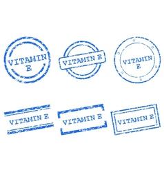 Vitamin E stamps vector image vector image