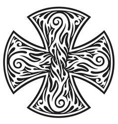 cross tribal tattoo vector image