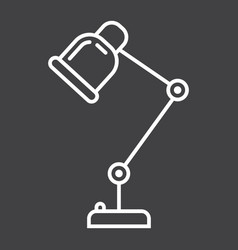 Desk lamp line icon table lamp and appliance vector