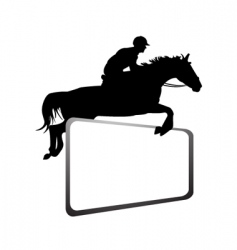 horse rider vector image vector image