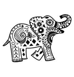Mandala elephant vector