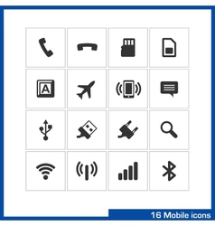 Mobile icon set vector image vector image