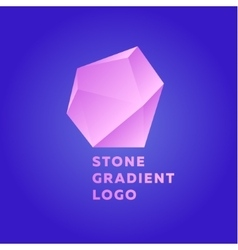 Pink glamor stone on a blue background in vector image