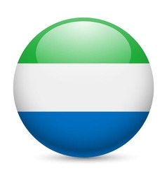 Round glossy icon of sierra leone vector image vector image