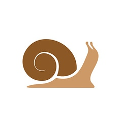Snail logo template Simple flat colors silhouette vector image vector image