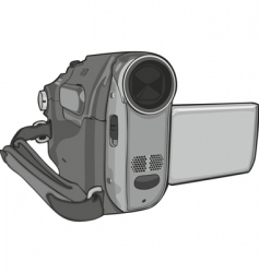 video cam on white background vector image vector image