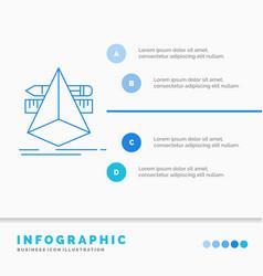 3d design designer sketch tools infographics vector image