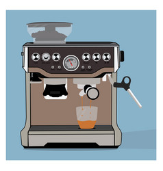 A coffee machine vector