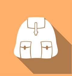 backpack icon with a long shadow vector image