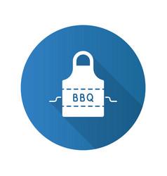 Barbecue apron flat design long shadow glyph icon vector