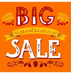 Big autumn sale lettering composition vector image
