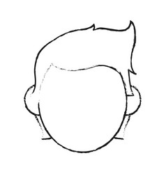blurred silhouette image faceless front view man vector image