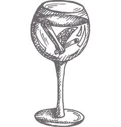 campari or aperol spritz cocktail vector image