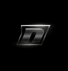Carbon speed letter n dark matte metal vector