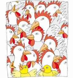 Chickens vector
