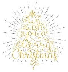 Christmas wish with rays vector