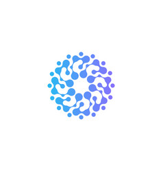 Circles logo freezer abstract logotype vector