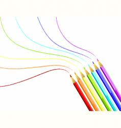coloured pencils rainbow vector image