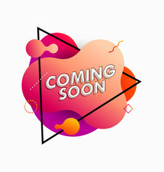 Coming soon announcement vector