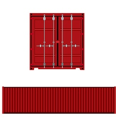Container back and side view vector
