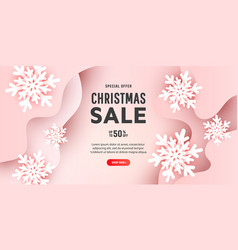 creative merry christmas composition with 3d vector image
