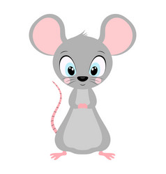 cute rat isolated on white vector image