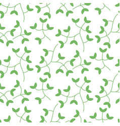 Dense tiny leaves seamless pattern vector