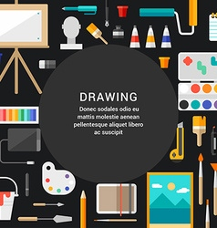 Drawing Concept Flat Style with Place for Text vector