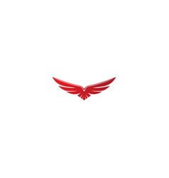 eagle fly wing logo vector image