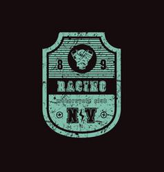 Emblem of racing club vector